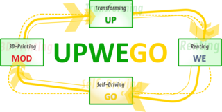 UPWEGO - UP: Transforming - WE: Renting - GO: Self-Driving - MOD: 3d-Printing